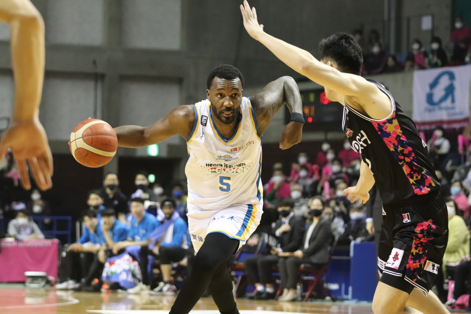 滋賀レイクスターズのハミルトン©Basketball News 2for1