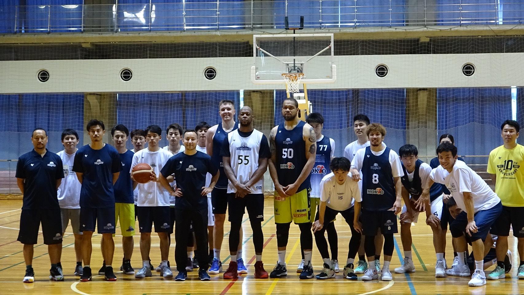トレーニングキャンプを行った信州ブレイブウォリアーズ©Basketball News 2for1